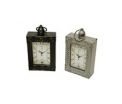 Metal clock rectangular - light - 12,5x5x13 CM