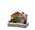 Ski hotel - battery operated - l18xw13xh14cm