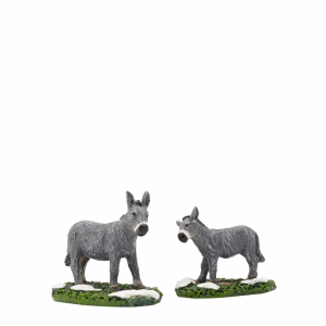 Donkey and foal 2 pieces- l6,5xw3,5xh6cm