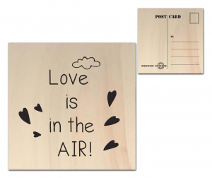 Factory4Home - Houten wenskaart - Love is in the Air