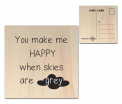Factory4Home - Houten wenskaart - You make me happy