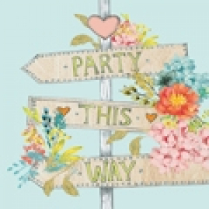 Party This Way - Servetten - 20st. bedrukt, 33X33cm, 3lagen, 100%Tissue, Chloorvrij