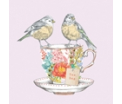 Tea for Two Birds - Servetten - 20st. bedrukt, 33X33cm, 3lagen, 100%Tissue, Chloorvrij