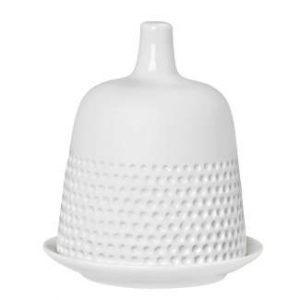 Butter Cloche small - White porcelain