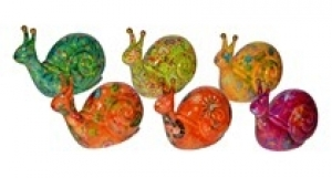 Speedy - Moneybank Snail - Green with birds