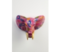 AniWall by Pomme-Pidou - Jim - Elephant - Magenta Madness - 38,5x28x29 cm - Indoor/Outdoor