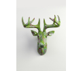 AniWall by Pomme-Pidou - Nelson - Deer - Green Melody - 49x24,5x57 cm - Indoor/Outdoor