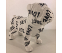 Studio Design - Max - English Bulldog - Love - 22x9x18cm - 100% handmade - Every piece is unique - For Design Lovers