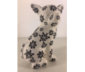 Studio Design - Nanou - Chihuaha Dog - Bloemen - 14x10x20,5cm - 100% handmade - Every piece is unique - For Design Lovers