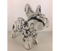 Studio Design -Jack - French Bulldog - Takken en bloemen - 21,5x10x19cm - 100% handmade - Every piece is unique - For Design Lovers