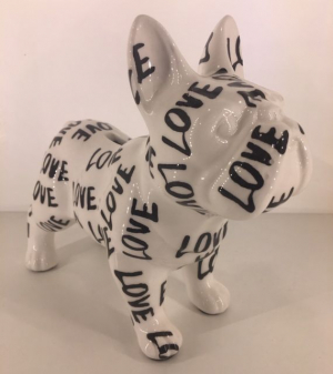Studio Design - Jack - French Bulldog - Love - 21,5x10x19cm - 100% handmade - Every piece is unique - For Design Lovers