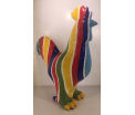 Studio Art - Edson - Rooster Salvador Stripe - 34,5x15x40 cm - 100% handmade - Every piece is unique - For Art Lovers