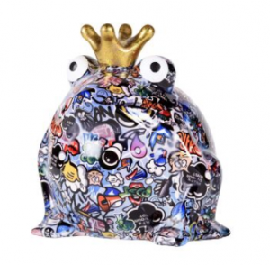 Bodhi's Big Freddy Blue - Moneybank King Frog XL - 22x22x28 cm