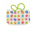 Aquarell Flowers Beach Bag- Canvas - 38x55x16cm -