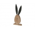 Wooden Hare 10x22x2.5 Brown burned