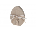Wooden egg with rabbit 11.8x15x2.5cm Natural-wash