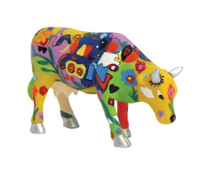 CowParade - Groovy Moo - Small Cow