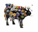 CowParade - The Moo Potter - (medium resin) - Ook wel bekend als de kop en schotel koe -