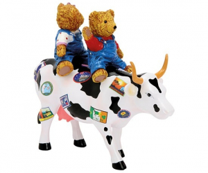 CowParade - Teddy Bears on the Moove (medium resin)