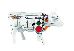 CowParade - Cow Frank Lloyd Wright - Medium Resin -