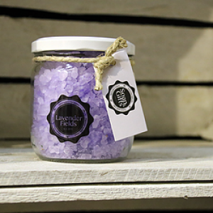 "Bath Crystals ""Lavender Fiels"" - Glass pot 450 gr"