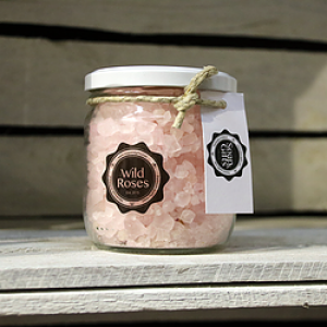 "Bath Crystals ""Wild Rose"" - Glass pot 450 gr"