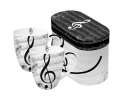 Mug set GB I Love Music -Set van 2 porseleinen mokken in bijpassende luxe geschenkverpakking. Inhoud mok 0,35 ltr. Geschikt voor magnetron en vaatwasser