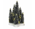 Trees on base with white light - battery operated - l12xw12xh19cm