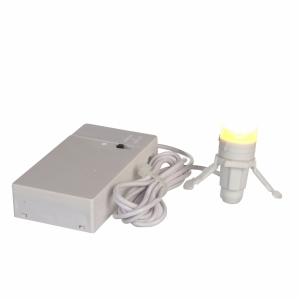 Light bulb - battery operated with adapter connection