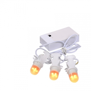 Light bulb chain 3 pieces- battery operated with adapter connection - leverbaar media sept/okt 2016