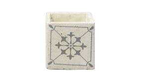 Concrete Pot Scentcrush Deco Star Grey