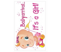 Adhesive baby arrival it's a girl 35x55 cm
