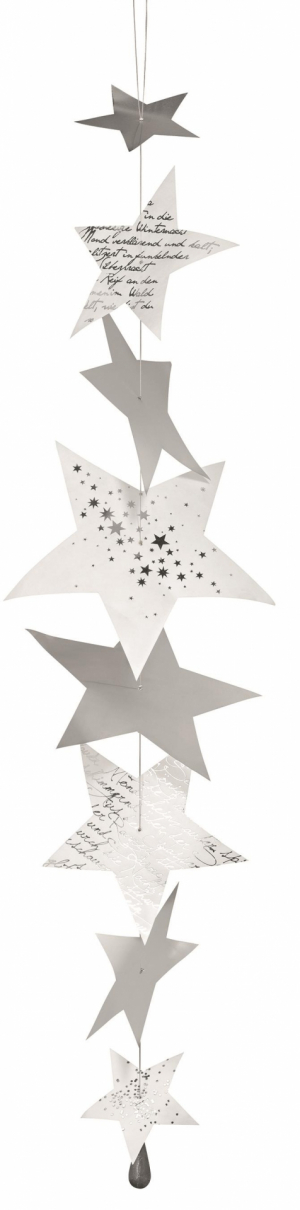 Star chain - Tyvek and sheets metal stars - Length: 80cm -Räder - Design Stories