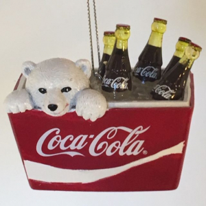 Kurt S. Adler - Coca-Cola - Polar Bear Cub in Coca-Cola Cooler