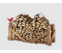 Log pile, natural wood