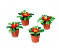 D56 Potted poinsettias set/4