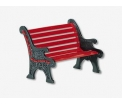 D56 Red Wrought iron park bench