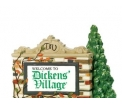 D56 Welcome To Dickens Village sign