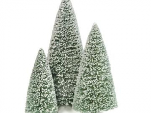 D56 Wintergreen Sisal Trees set/3