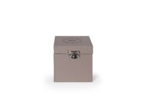 Storage Box Wax Chips 1 Compartment Taupe 8x8cm