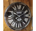 Wall clock Wood with glass 61cm