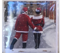 Kerstkaart - Santa & Wife - Text inside: Merry Christmas an a Happy New Year