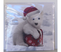 Kerstkaart - Polarbear - Text inside: Merry Christmas an a Happy New Year