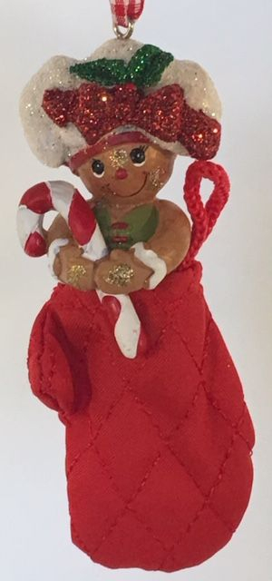 Kurt S. Adler - Gingerbread Girl in Oven Mitt