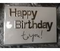 Zinzi - Stark - Happy Birthday to You - 17x12cm - incl zilvergrijze enveloppe
