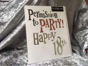 The Birght Side - Permission to Party Happy 18th - 17x14cm - Inclusief enveloppe