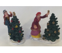 Dickensville Classic figurines meet kerstboom, set 2 stuks
