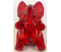 Lony - Moneybank Sitting Elephant - Red
