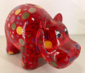 Hippolyte - Moneybank Hippo - Red with candy