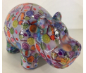 Hippolyte - Moneybank Hippo - Blue with candy and lollipops
